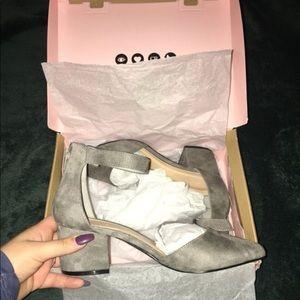 Grey suede pumps!